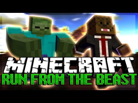 Minecraft RUN FROM THE BEAST w/ Vikkstar