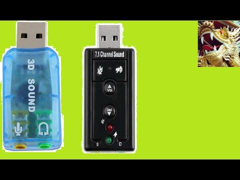 Сравнение Двух USB SOUND CARD из Китая