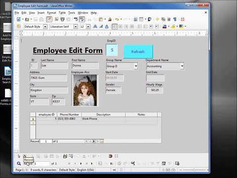 LibreOffice Base (61) Standalone Forms