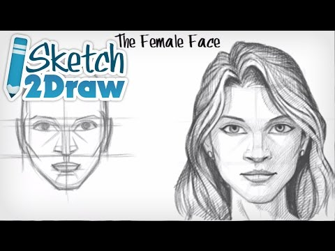 Face - http://sketch2draw.com/ http://sketch2draw.com/products-page/shop/ This is a basic tutorial on drawing. In this tutorial I cover how to draw the female face ...