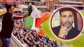 Akshay Kumar was seen cheering for the Indian Women's Cricket Team at Lords London during which he posted a picture of...