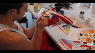 """mario"" custom painted nike dunks high (how to customize shoes) - YouTube"