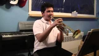 Daniel Hirsch Audtion tape Blue's march - YouTube