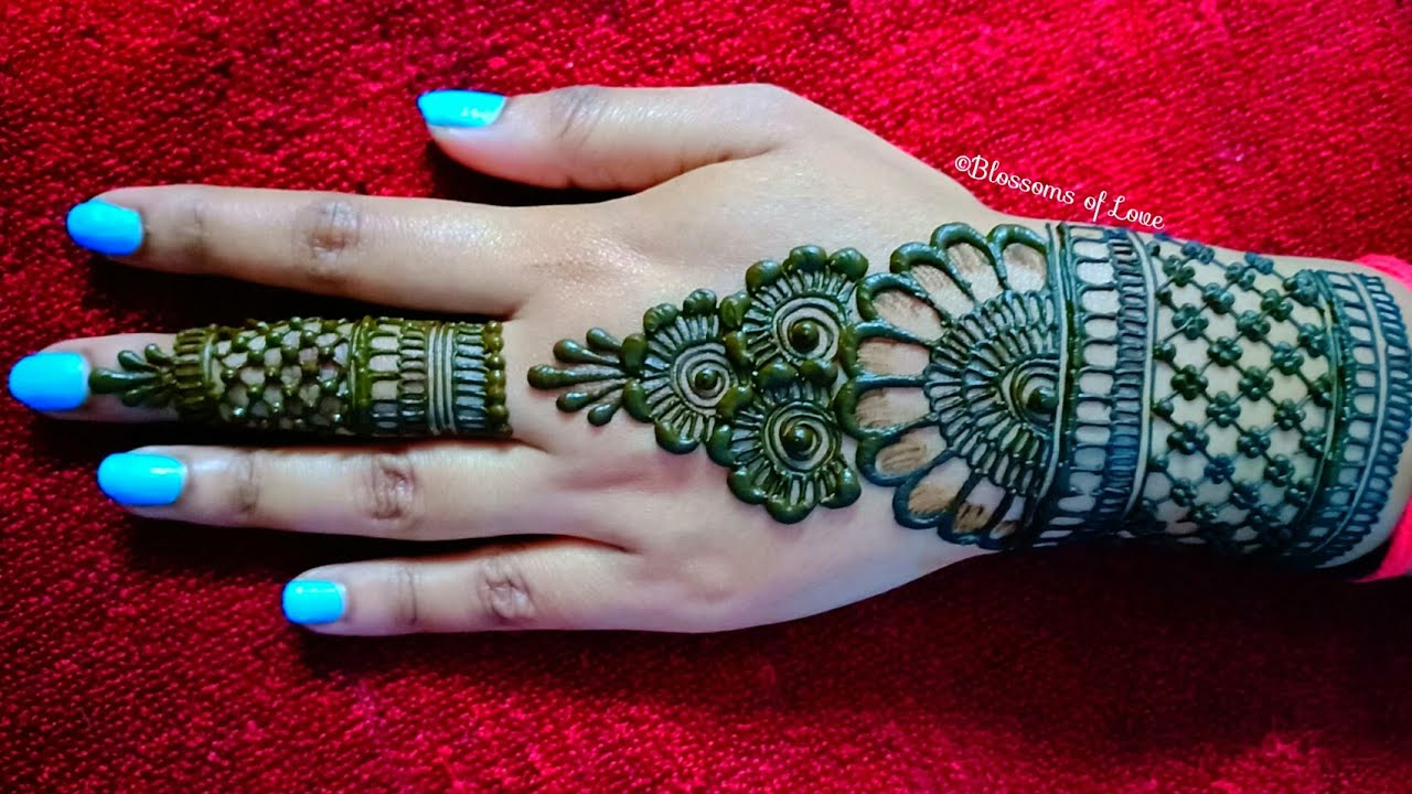beautiful back hand mehndi design tutorials blossoms love