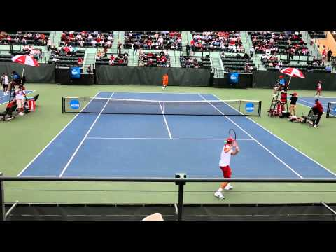 Men's Singles NCAA Tennis 2011 Quarterfinals — Marathon 1st Game Of 2nd Set – Klahn vs Williams