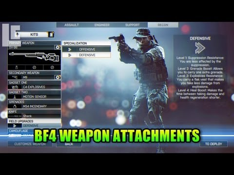 alpha - Hey guys. Lets take a look at the new weapon attachments in BF4! LevelCap's Computer Hardware: http://astore.amazon.com/leve0f-20 Get a LevelCap t-shirt: htt...
