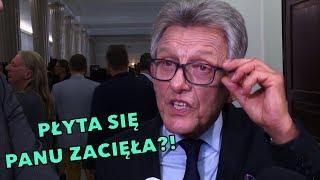 Zdenerwowany Piotrowicz do dziennikarza Onetu: PŁYTA SIĘ PANU ZACIĘŁA?!