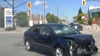 Orillia (ON) Canada  city photos : Dash Cam Footage of Accident - Orillia, Ontario, Canada