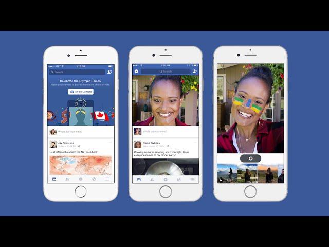 Facebook tests CameraFeed and MSQRD selfie filter integration