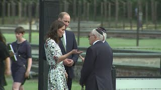 The Duke and Duchess of Cambridge visited a World War II Nazi German concentration camp in Poland on the second day of the five-day-tour .