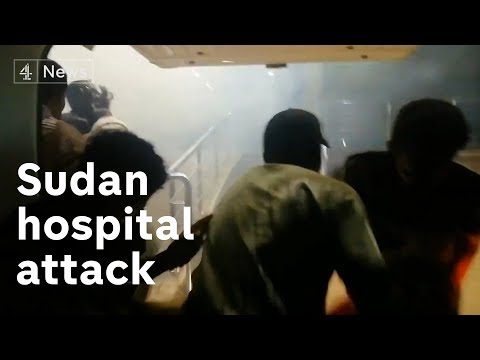 Shocking footage of Sudan hospital attack