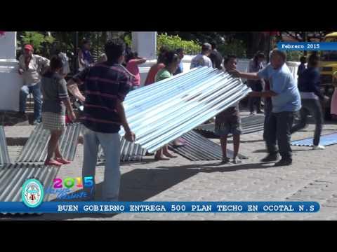 Buen Gobierno entrega 500 plan techo en Ocotal Nueva Segovia.