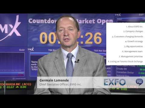 Germain Lamonde, Chief Executive Officer, EXFO Inc.