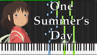 One Summer's Day - Spirited Away [Piano Tutorial] Ноты и МИДИ (MIDI) можем выслать Вам (Sheet music