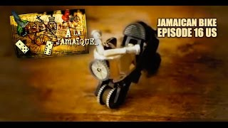 Jamaican Boy Makes A Bike Out Of Two Lighters