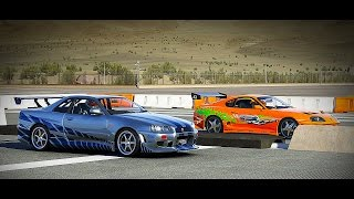 Nonton Forza 6: Fast and Furious - Nissan SKYLINE GT-R (R34) vs Toyota SUPRA | Drag Race Film Subtitle Indonesia Streaming Movie Download