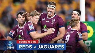 Reds v Jaguares Rd.16 2019 Super rugby video highlights | Super Rugby Video Highlights