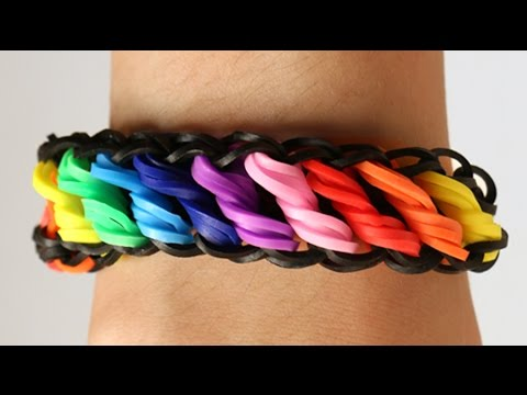 Loom Bands Nederlands – Rotini tutorial – Rainbow Loom || how to, tutorial, loom bands