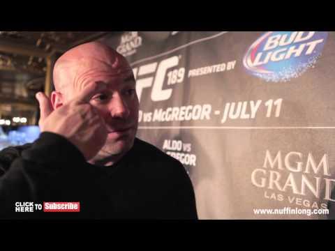 DANA WHITE SAYS HE CAN NOT CALL THE WINNER OF MAYWEATHER V PACQUAIO – ALDO VS MCGREGOR – UFC 189