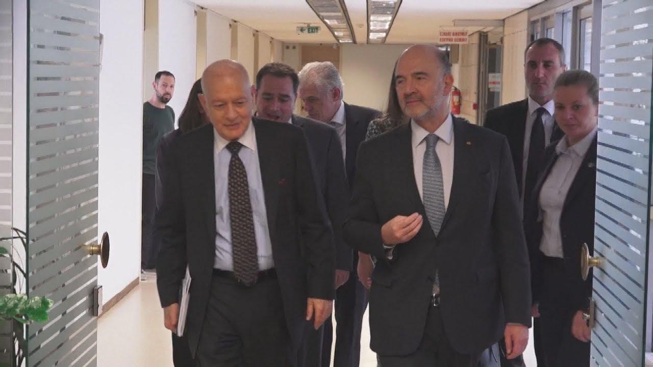 Συναντήσεις Pierre Moscovici με  Δ. Παπαδημητρίου και Αλ. Χαρίτση