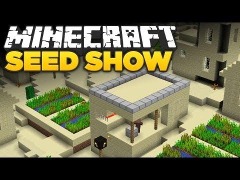 Minecraft 1.8 Seeds: 2 NPC Villages, Temple & Ravine!