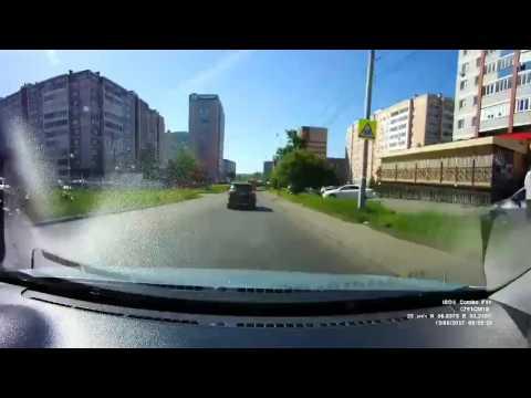 Авария с мотоциклистом в Ижевске