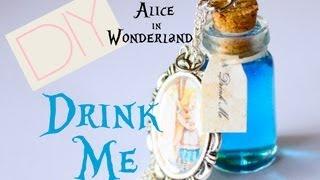 "Alice in Wonderland ""Drink Me"" Necklace - Bottle / Jar Tutorial - YouTube"