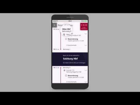 Ticket App der ÖBB: Mein erstes Ticket - Die ÖBB App