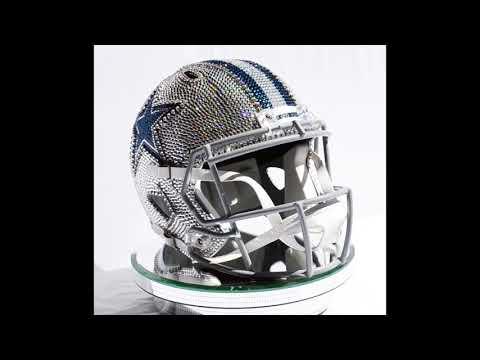 Dallas Cowboys Full Size Helmet Made with Swarovski® Crystals