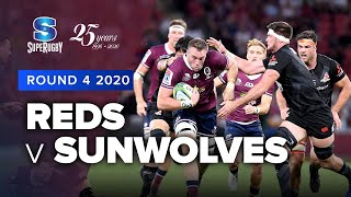 Reds v Sunwolves Rd.4 2020 Super rugby video highlights | Super Rugby Video Highlights