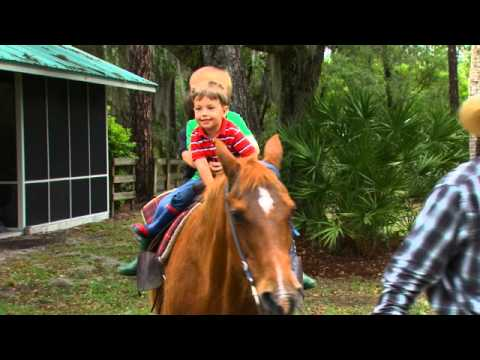 Kids Ranch Vacation: A Horseback Ride in Central Florida.