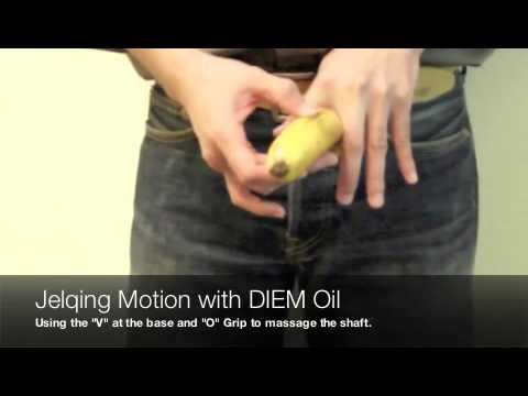 jelqing video - How to use DIEM Oil and Duroil - Massage oil for men - proven enhancement and enlargement oil.