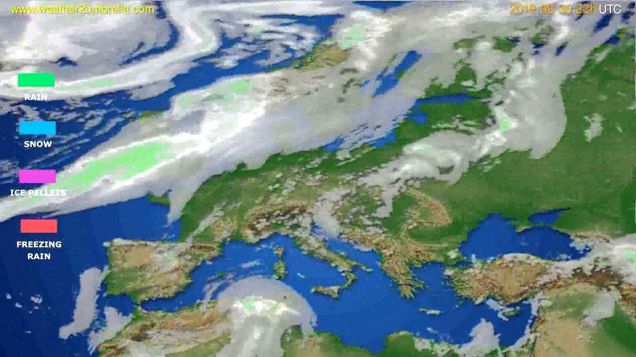 Precipitation forecast Europe // modelrun: 12h UTC 2019-08-27