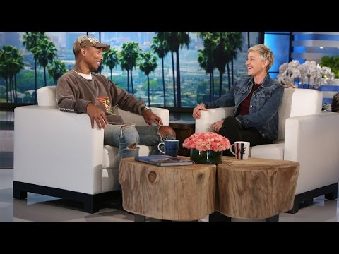 Ellen and Pharrell Discuss the Importance of Love and Acceptance (видео)