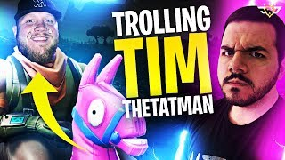 TROLLING TIMTHETATMAN! HE THREATENED ME! (Fortnite: Battle Royale)