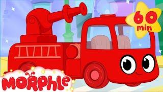 Video Fire Truck adventures with Morphle ( +1 hour My Magic Pet Morphle vehicles kids videos compilation) MP3, 3GP, MP4, WEBM, AVI, FLV Juli 2017