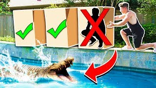 Video DON'T PUSH THE WRONG MYSTERY BOX INTO WATER! *POND MONSTER* with Unspeakable & MooseCraft MP3, 3GP, MP4, WEBM, AVI, FLV Maret 2019