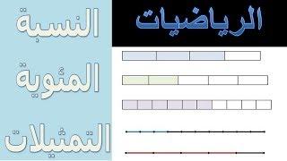 الرياضيات السادسة إبتدائي - النسبة المئوية التمثيلات تمرين 1