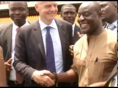 VIDEO: FIFA president Gianni Infantino tours Accra Sports Stadium