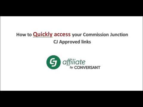 Commission junction CJ quick links Video tutorial for approved advertisers