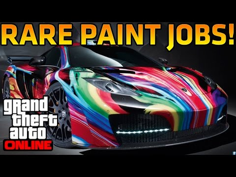 "GTA 5 Online: NEW ""Rare Paint Jobs"" (Royal Flush, Dark Gold & Flamed Bronze)"