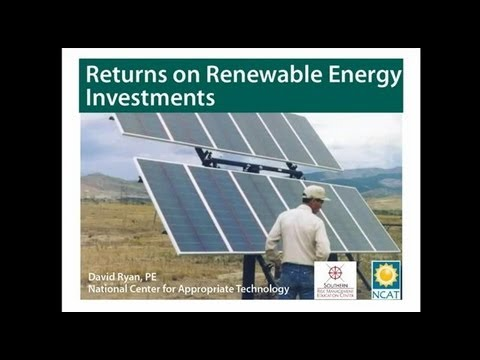 Returns on Renewable Energy Investments
