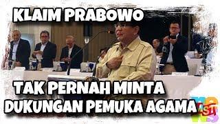 Video Prabowo Tolak Anggapan Minta Dukungan dari Pemuka Agama, Siapakah Pendukung Andalannya ? MP3, 3GP, MP4, WEBM, AVI, FLV Februari 2019