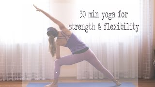 Video 30 Min Yoga for Strength & Flexibility MP3, 3GP, MP4, WEBM, AVI, FLV Maret 2018