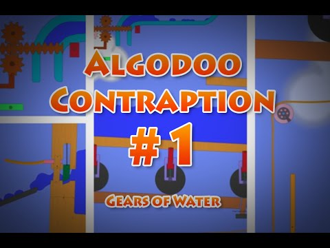 Algodoo contraption - Gears of Water