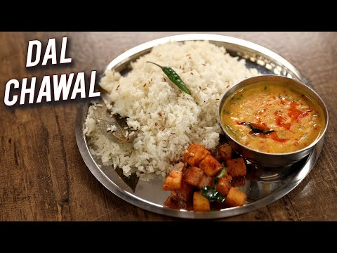 Dal Chawal | How To Make Dal Rice | Yellow Dal & Jeera Rice | Traditional Veg Recipe By Chef Varun