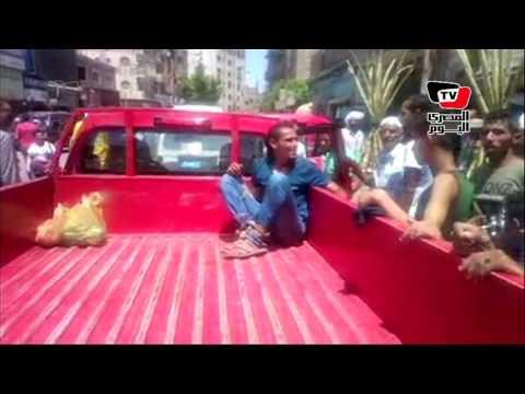 مواطنون يمسكون لصا حاول سرقة جزار بسوق الجمعة في الإسماعيلية