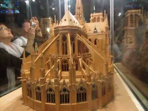 video clip - notre dame - tour of a model of the cathedral - sidneysealine