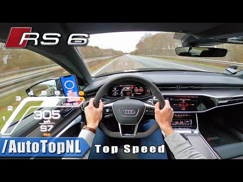 AUDI RS6 C8 305km/h TOP SPEED on AUTOBAHN (NO SPEED LIMIT) by AutoTopNL