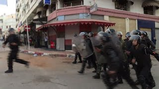 Police in the northern Moroccan city of Al-Hoceima on Thursday fired tear gas to disperse protesters and stop them marching in ...